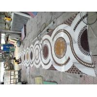 Quality Custom Stone Floor Medallions , Natural Stone Floor Tile Mosaic Medallions for sale