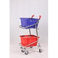 Quality Double Supermarket Basket Trolley for sale