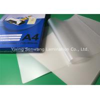 Buy cheap 250micron 10mil  Pouch Laminating Film Glossy Lamination For Office Files from Wholesalers