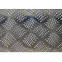 Quality 5 Bar Aluminium Checker Plate Sheet Custom Pattern Checked Height 0.6mm--1.2mm for sale