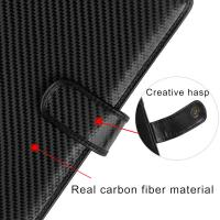 China Christmas Gift A4 carbon fiber genuine leather notebook carbon fibre notebook for sale