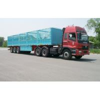 Quality 13m-3 Axles-45T-Rail Side Flat Bed container semi trailer for sale