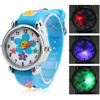 Quality Wrist Rainbow Childrens Digital Watches Silicone Strap for Christmas Day for sale