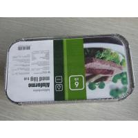 Quality Custom Rectangle Aluminum Foil Container With Lid For Frozen Ready Meals for sale