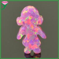 Buy OP22 Rose pink lab created synthetic fire little girl opal ethiopian opal price per gram at wholesale prices