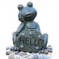 China Garden Statue Fountains Vivid Frog Statue Green Frog Magnesia Water Fountain on sale