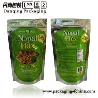 Quality Biscuit Ziplock Packaging    Aluminium Foil Food Bags   Nopal Flax Doypack for sale