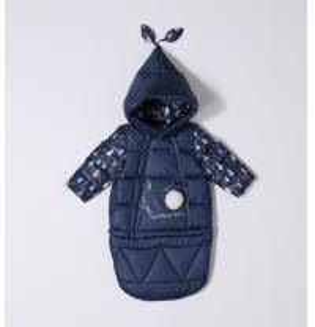 China Bilemi Baby Rabbit DarkBlue Patchwork Soft Solid Warmest Parka Windbreaker Zip Outerwear Christmas Target Infant Snowsui on sale