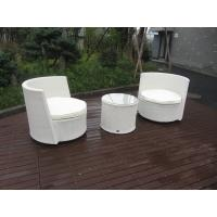 Quality Waterproof White Resin Wicker Chair Set For Home / Restaurant for sale