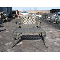 China Modern Cast Iron Table And Chairs With Antique Bronze Color Cast Iron Outdoor Dining Set on sale