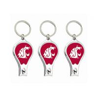China Metal Nail Clipper Bottle Opener Keychain With Collegiate Sport Team Logos for sale