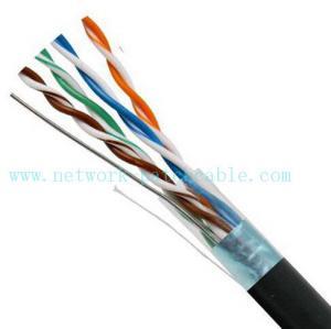 Quality Black 4P Exterior Grade UTP Outdoor Cat5e Cable 100MHz Fire Resistant for sale