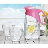 China Penguin Juice Glass Water Cup Set Jug Glassware 3Pcs Frosting Sprayed Available on sale