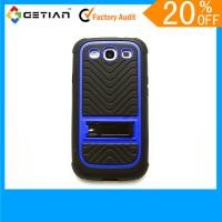 Quality Red Protective Knuckle Cute Case For Samsung Galaxy S3, Kickstand Phone Back Case With Stand for sale
