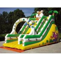 Quality OEM Colorful Tiger Castle Commercial Inflatable Slide fire retardant for sale