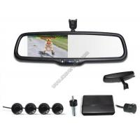 Quality 4.3 inch Rear view mirror Visual parking sensor CRS9437 with Reversing Camera and Sensors for sale