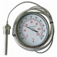 Quality Stainless Steel Industrial Remote Reading Thermometer / Bimetal Thermometer for sale
