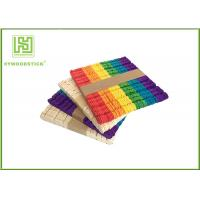 Quality Wooden Stained Colored Flat Craft Sticks With Various Size And Color for sale