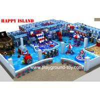 Quality New design Indoor Playground Equipment For Sale With Big Ball Pool And Three Big Plastic Slide In line for sale
