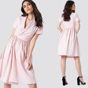 China 2018 New Arrivals Women Overlapped Midi Dress on sale
