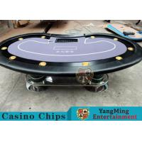 Quality Texas Holdem Casino 10 Person Poker Table For Gambling Games for sale