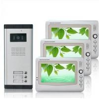 Quality FCC 1440*234 Pixels CMOS Unlock ABS Alloy Multi Apartment Video Intercom Door Entry Phone for sale