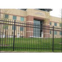 High Security Black Steel Fence  Panels Simple Installation Various Sizes
