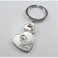 Quality heart shaped cheap personalized souvenir keychains for egypt for sale