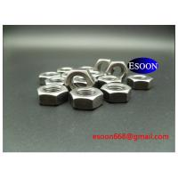 China M6-1.0 DIN439 Hex thin nut Plain finished surface,Carbon steel Grade 8,DIN936 for sale