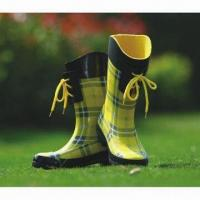 Children's rubber rain boots, made of 100% natural rubber material