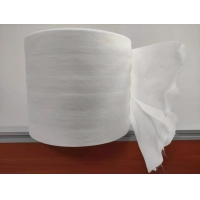 Quality 40g Double Layer Dry Wipes Roll  Made By Plain Spunlace Nonwoven  Fabrics for sale