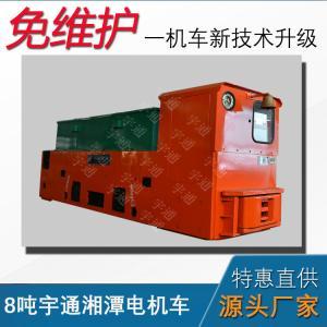 China 8ton underground mining battery locomotive, anti-explosion battery locomotive with china factory price on sale