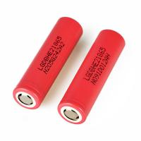 China long span life LG HE2 2500mAh li ion 18650 rechargeable battery for electric toys on sale
