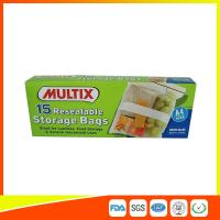 Buy cheap Supermarket Plastic Food Storage Bags / Zip Up Storage Bags Resealable Food Safe from Wholesalers