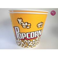 Quality 180oz Volume 4850ml Disposable Flexo Print Paper Popcorn Bucket With Paper Lid for sale