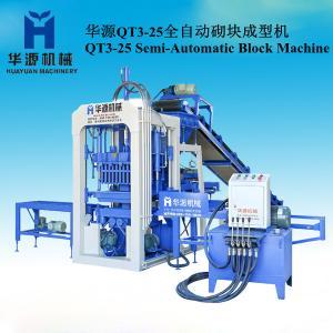Quality QT3-25 Semi-automatic cement brick making machine for hollow brick/solid brick/porous brick for sale