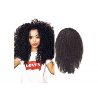 Quality #1B natural color 130% density kinky curly 20 inch 13x4 lace front wig for sale