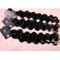 Quality Wholesale Price 100 Gram Virgin Indian Hair Bundles Loose Wave 10A Black Color for sale