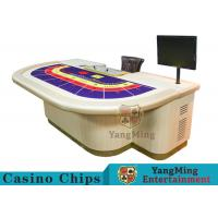 Quality Macao VIP Dedicated Casino Poker Table / Entertainment Baccarat Tables for 9 Players for sale