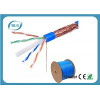 Quality STP Cable Ethernet Cat 6 8 Conductor Solid Bare Copper 23 AWG 550mHz PVC Jacket 1000'' Feet for sale