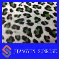 Quality Mirror Surface Leopard Pattern Synthetic Pu Leather For Shoes / Bags / Handbags for sale