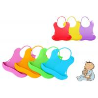 Quality Customized Silicone Baby Bibs With Adjustable Secure Strap , Easy Cleaning for sale