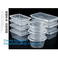 China Meal Prep Containers 3 Compartment Leak Proof 1oz sauce cups Microwave BPA Free Plastic Food Bento Plastic Lunch Boxes on sale