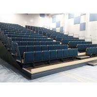 Rise Mounted Retractable Grandstand With Leather / Fabric Upholstery