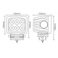 China 90W Square CREE Offroad LED Work Light for Truck and Jeep on sale