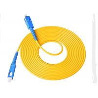 Buy 3.00mm 3M SC - SC Fiber  Patch Cord , LSZH / PVC Jacket Fiber Optic Jumper Cables at wholesale prices