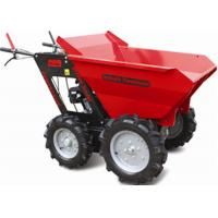 Quality Stepless Speed Change Transmission 4 Wheel Wheelbarrow for Engineering Construction 300kgs for sale