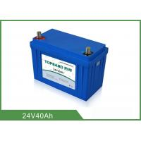 Quality Safety 24V 40Ah Medical Equipment Battery Backup Nano LiFePO4 Material for sale
