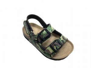 China Fashion Camouflage Double Buckle Footbed Sandals on sale