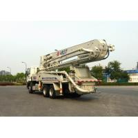 265kW 6x4 Mobile Truck Mounted Concrete Pump Trucks Ssab Steel 37m